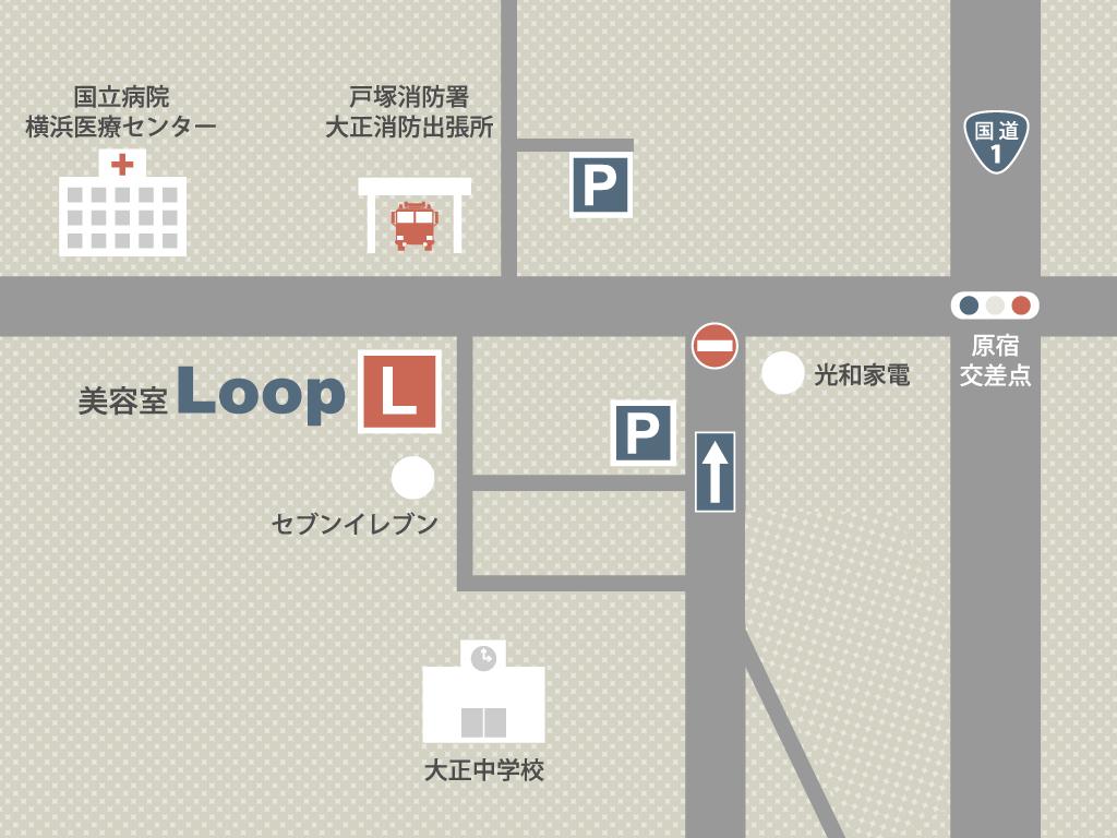 美容室Loopマップ
